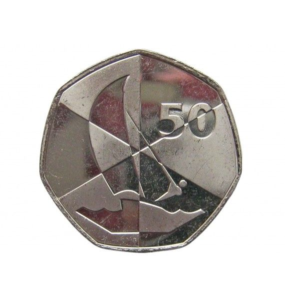 Гибралтар 50 пенсов 2019 г. (Островные игры)
