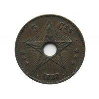 Бельгийское Конго 5 сантимов 1888 г.