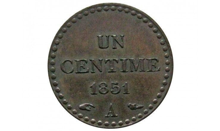 Франция 1 сантим 1851 г.