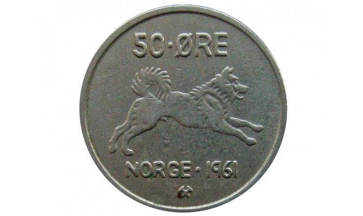 Норвегия 50 эре 1961 г.