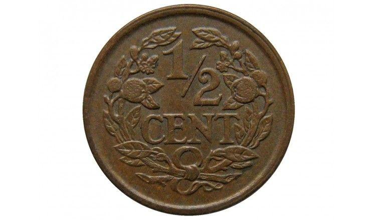Нидерланды 1/2 цента 1936 г.