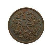 Нидерланды 1/2 цента 1937 г.
