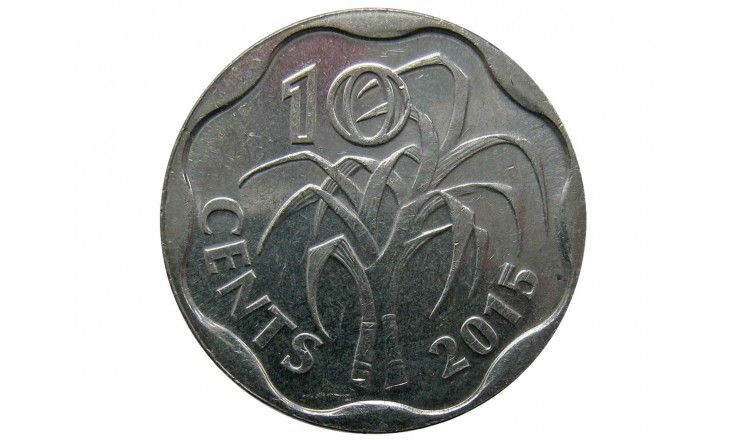 Свазиленд 10 центов 2015 г.
