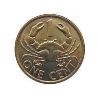 Сейшелы 1 цент 2014 г.
