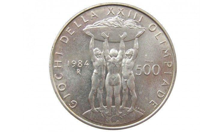 Италия 500 лир 1984 г. (Олимпийские игры в Лос-Анджелесе)