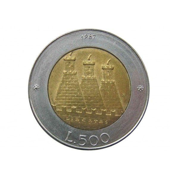 Сан-Марино 500 лир 1987 г. (Чеканка монет)