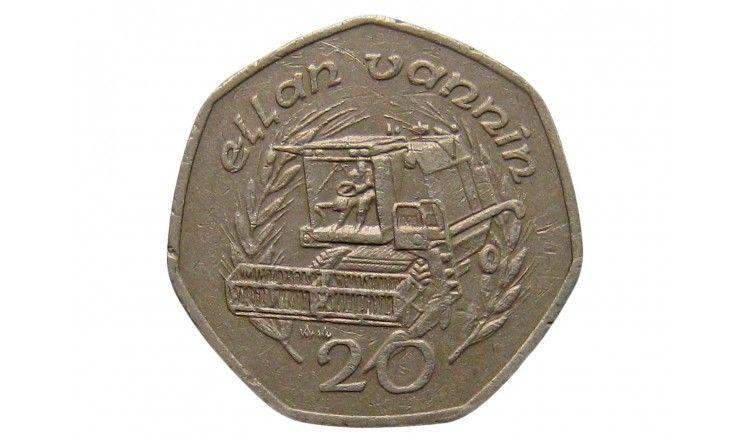 Остров Мэн 20 пенсов 1989 г. AA
