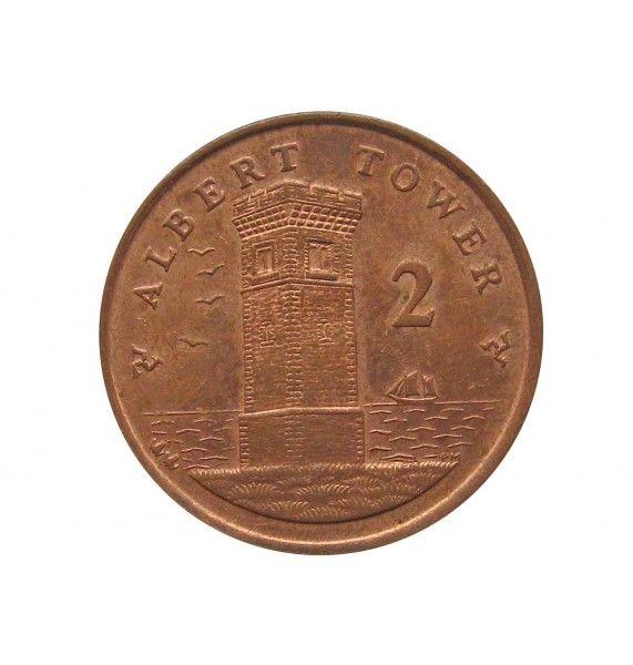 Остров Мэн 2 пенса 2007 г. AA