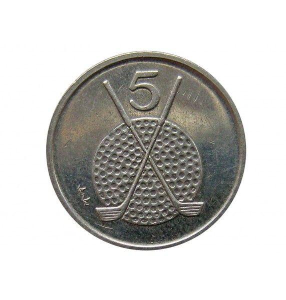 Остров Мэн 5 пенсов 1995 г. AA
