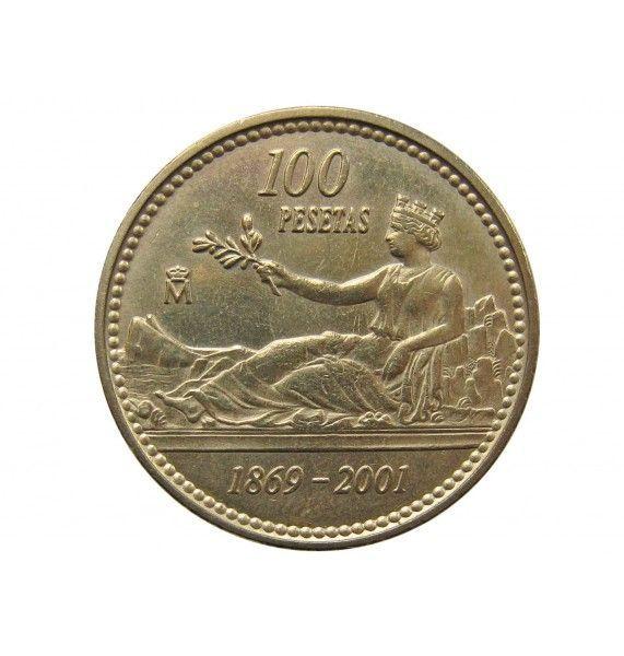 Испания 100 песет 2001 г. (132 года песете)