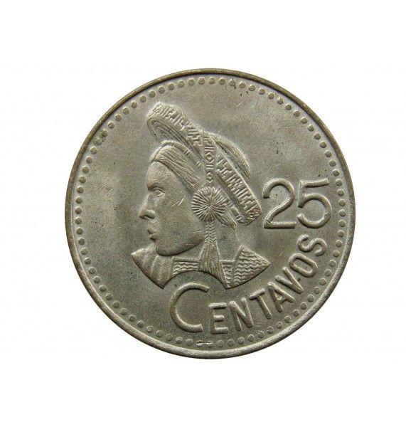 Гватемала 25 сентаво 1990 г.