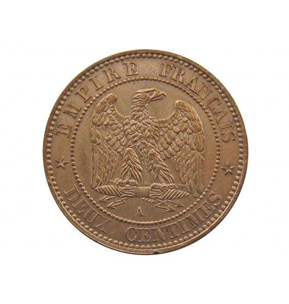 Франция 2 сантима 1861 г. A