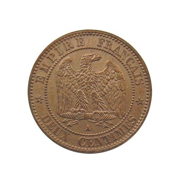 Франция 2 сантима 1862 г. A