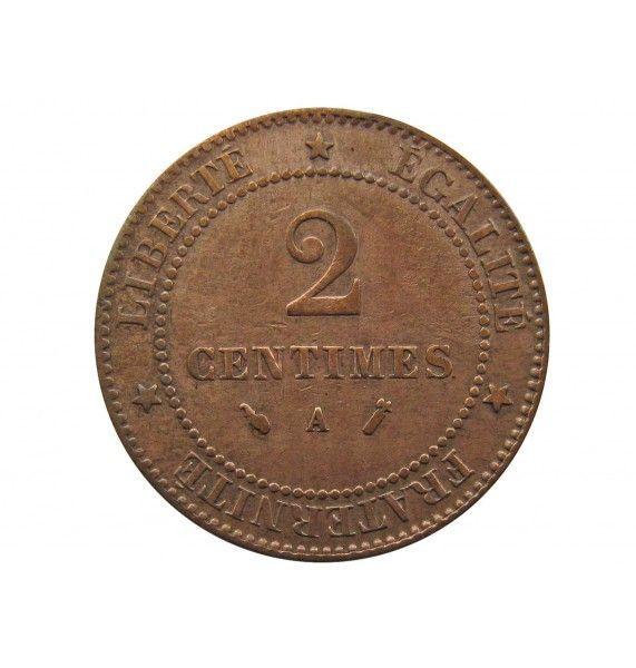 Франция 2 сантима 1887 г. A