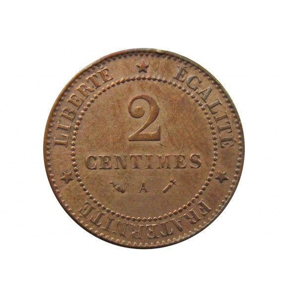 Франция 2 сантима 1890 г. A