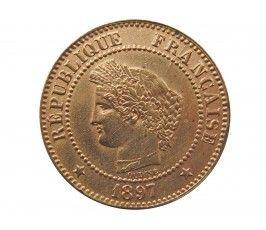 Франция 2 сантима 1897 г. A