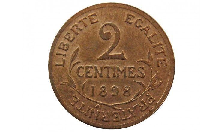Франция 2 сантима 1898 г. A