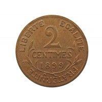 Франция 2 сантима 1899 г. A