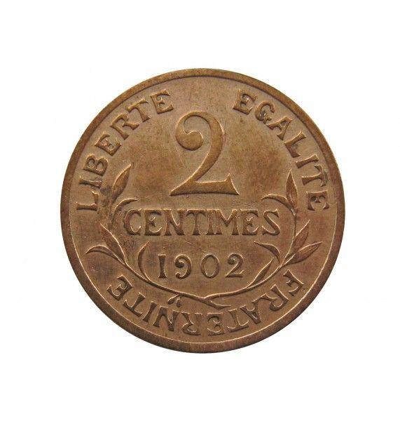 Франция 2 сантима 1902 г. A