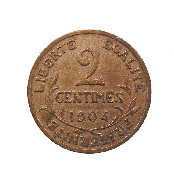 Франция 2 сантима 1904 г. A