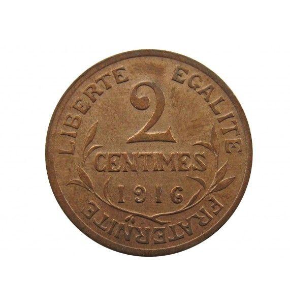Франция 2 сантима 1916 г. A