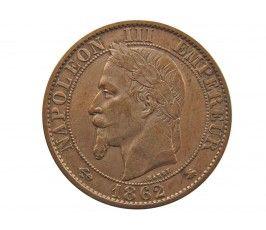 Франция 5 сантимов 1862 г. A