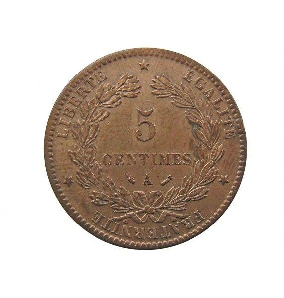 Франция 5 сантимов 1882 г. A