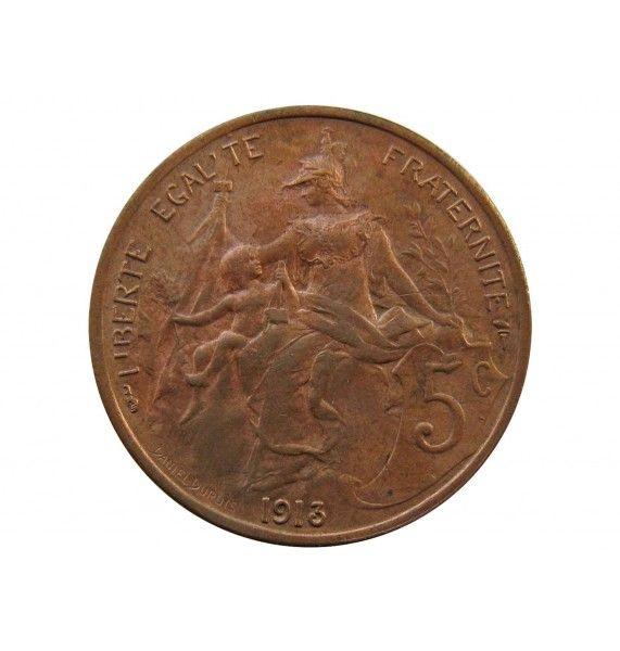 Франция 5 сантимов 1913 г. A