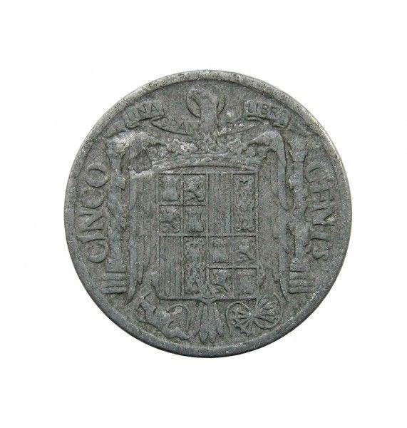 Испания 5 сентимо 1940 г.