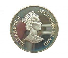 Остров Вознесения 50 пенсов 1995 г. (Королева мать - рыбалка)