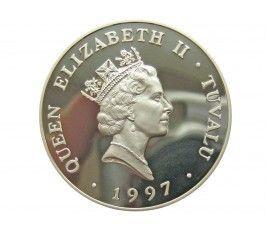 Тувалу 5 долларов 1997 г. (Королева-мать - звание почетного доктора музыки)