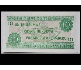 Бурунди 10 франков 2007 г.