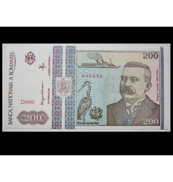 Румыния 200 лей 1992 г.