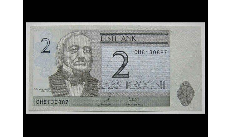 Эстония 2 кроны 2007 г.