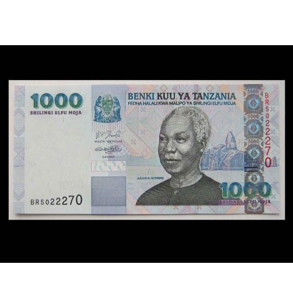 Танзания 1000 шиллингов 2009 г.