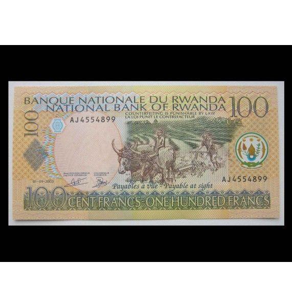 Руанда 100 франков 2003 г.