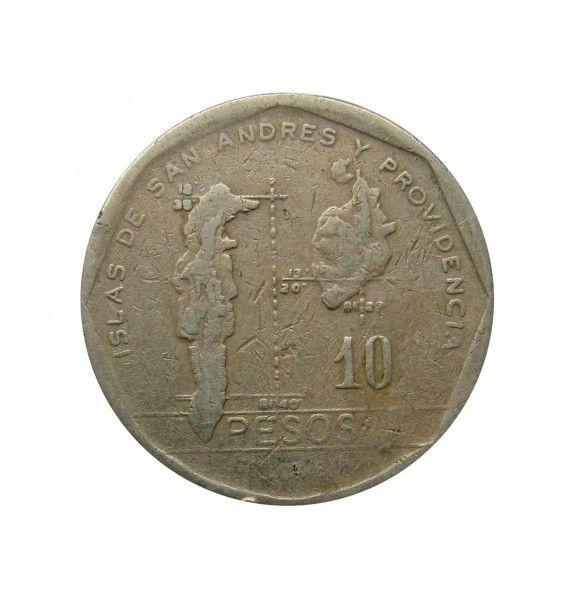 Колумбия 10 песо 1982 г.