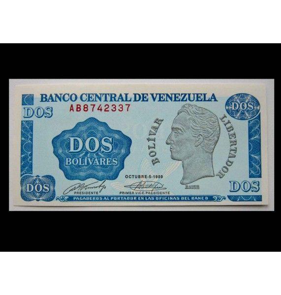 Венесуэла 2 боливара 1989 г.