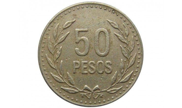 Колумбия 50 песо 1989 г.