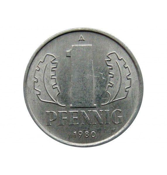 Германия 1 пфенниг 1980 г. А