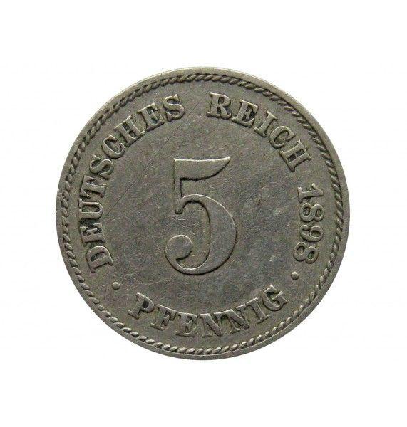 Германия 5 пфеннигов 1898 г. E