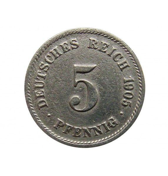 Германия 5 пфеннигов 1905 г. G