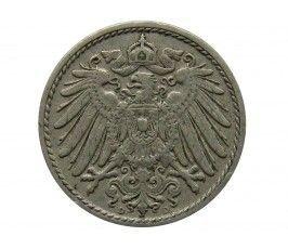 Германия 5 пфеннигов 1908 г. D