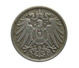 Германия 5 пфеннигов 1911 г. F