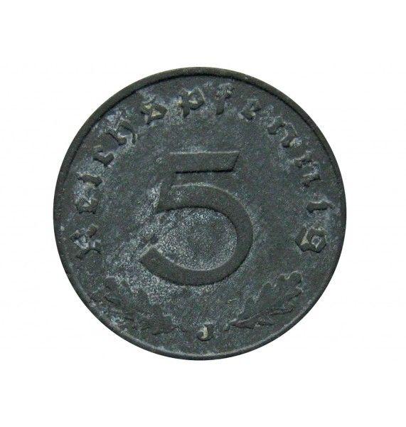 Германия 5 пфеннигов 1941 г. J