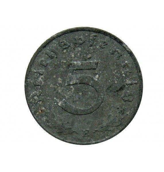 Германия 5 пфеннигов 1943 г. E