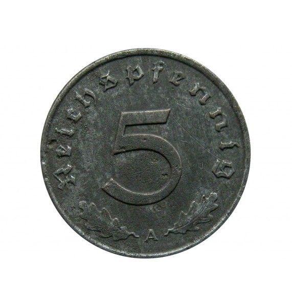 Германия 5 пфеннигов 1943 г. A