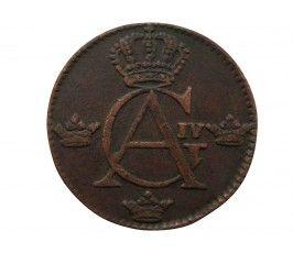 Швеция 1/4 скиллинга 1803 г.