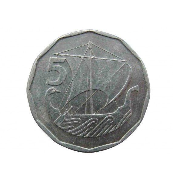 Кипр 5 милс 1981 г.