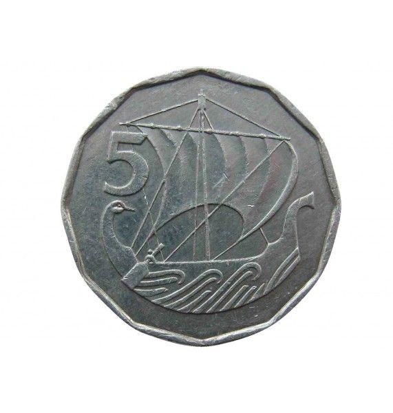 Кипр 5 милс 1982 г.
